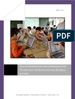 Project Report - Use of Information and Communication Technology for Education and Business Sectors