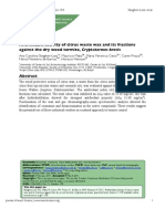 Actividad Deterrente de Aceites Esenciales y Ceras vs Termitas