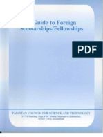 Guide to Foreign Scholarship From Pakistan (PCST)