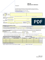Saskatchewan Canada Admission Form