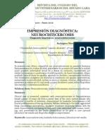 Impresión Diagnótica. Neurocisticercosis