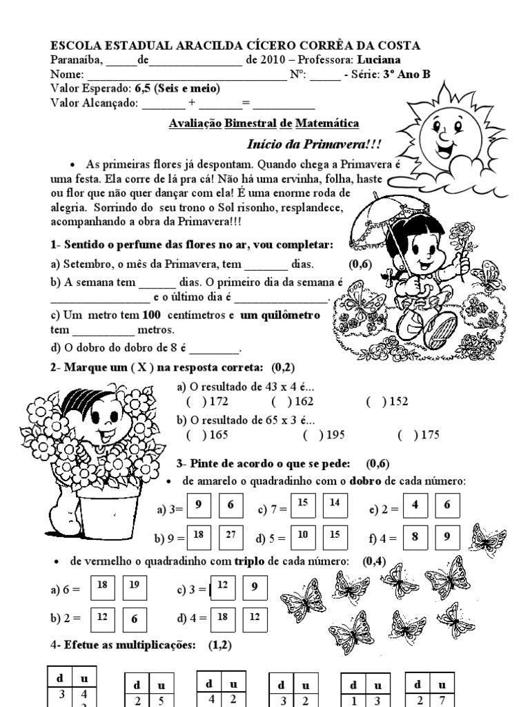 Excepcional 38280477-Avaliacao-Bimestral-de-Matematica-3º-Bimestre QW88