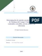 Determinacion de Metales Pesados en Suelos de Medina Del Campo Valladolid Contenidos Extraibles Niveles Fondo y de Referencia 0