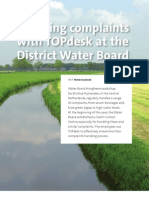 Handling Complaints With TOPdesk at the District Water Board