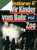 Christiane F - Wir Kinder Vom Bahnhof Zoo(Mit Fotos)