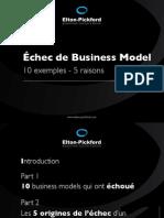 Echec de modèle économique - 10 exemples - 5 raisons