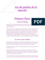 Resumen Del Quijote de La Mancha