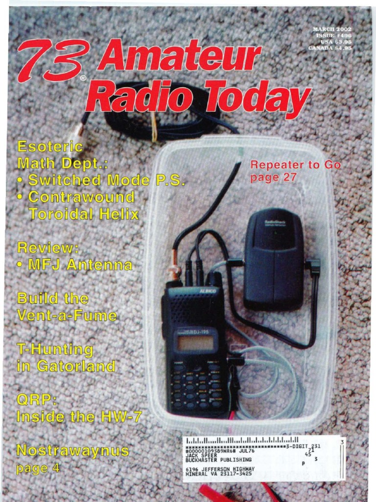 73 Magazine March 2002 Very High Frequency Ultra Uniden Bearcat 880 Mic Wiring Free Download Diagram Schematic