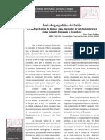 La teología política de Pablo - Taubes medaidor de Schmitt Benjamin y Agamben- Darío Heffes