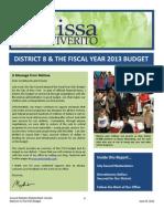 MMV FY13 Budget Report Final