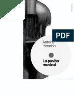 La Pasion Musical, Antoine Hennion, Paidos de Musica