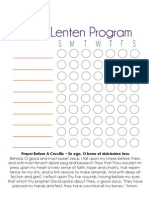 2013 Personal Lenten Program Chart - Blank - JOYfilledfamily