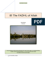 081 The Fadhl of Allah