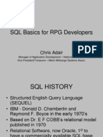 SQL Basics for RPG Developers