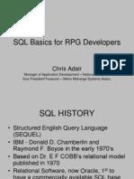 SQL Basics for RPG Developers