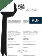 Proclamation convening the Parliament of Ontario / Proclamation convoquant la législature de l'Ontario