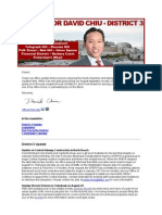 Supervisor Chiu August 2012 Newsletter