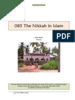 085 The Nikkah (Marriage) in Islam