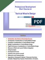 Tactical Missile Design Presentation Fleeman