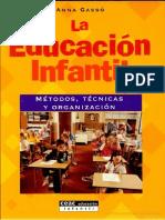 La educación infantil métodos, técnicas y organización