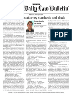 """Chicago Daily Law Bulletin """"Professionalism on Shuffle"""" column, January 11, 2012"""