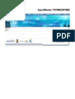 Monitor Samsung SyncMaster 997MB Manual Eng