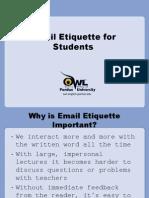 Email Ettiquete