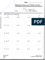 Mult Fract & Whole Worksheet
