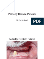 Partially Dentate Patient