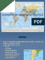 Elemente de Geografie Politica