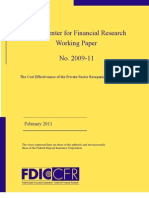 2011-11, The Cost Effectiveness of the Private-Sector Reorganization of Failed Banks - Working Paper