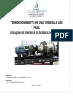 DIMENSIONAMENTO DE UMA TURBINA A GÁS PARA GERAÇÃO DE ENERGIA  ELÉCTRICA DOMÉSTICA