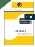3500 operating instructinos