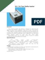 XD6101 C-Tan Delta Tester