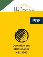 4000 operation and maintenance