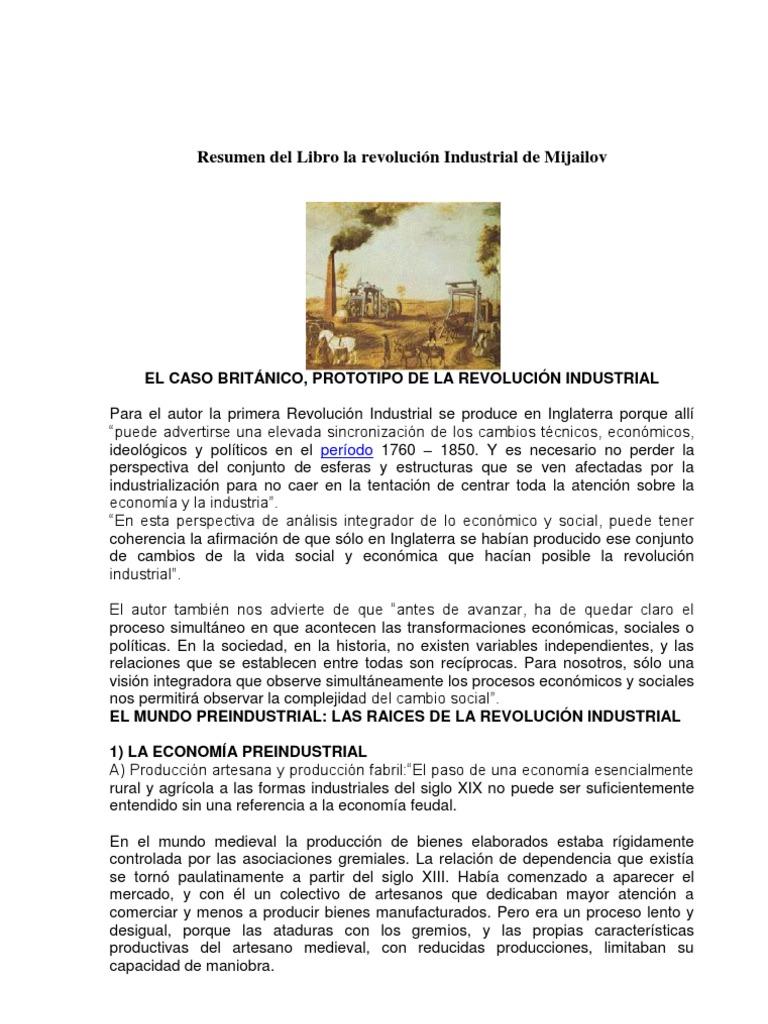 Resumen del libro la revoluci n industrial de mijailov Libros de ceramica pdf
