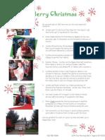 Christmas Newsletter 2012
