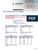 Maintenance Freezingtoilets
