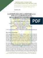La Enseñanza de la Historia, la Ética y la Deontología de la Medicina Veterinaria (Caso DCV-UCLA 1964-2010)