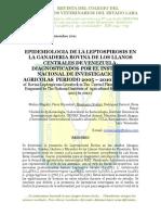 Leptospirosis Bovina en Los Llanos Centrales