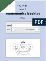 Key Stage 1 SATS 2003 math Test A