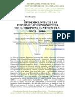Epidemiología de las Zoonosis Neurotrópicas en Venezuela