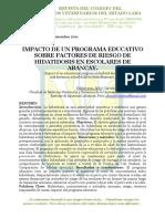 Impacto de un Programa Educativo sobre Factores de Riesgo de Hidatidosis en  Escolares de Abancay, Perú.