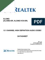 ALC662 datasheet