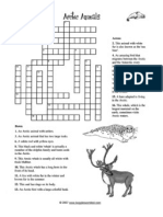 Artic Crossword and Cloze Wrksheet