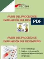 DIFUSION EVALUACION DEL DESEMPEÑO EN TECSA