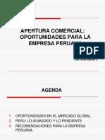 Apertura Comercial Oportunidades Para La Empresa Peruana