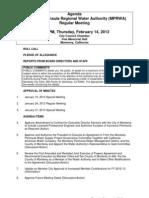 MPRWA Regular Meeting Agenda Packet 02-14-13