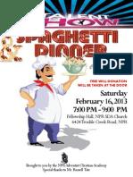 Talent Show & Spaghetti Dinner