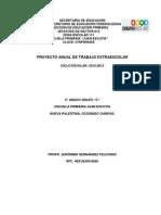 Proyecto Anual de Trabajo Extraescolar 2012-2013